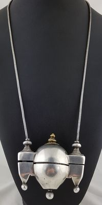 Antique lingam holder with snake-link chain - Karnataka, India - Early 20th Century