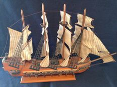 Vintage French Galleon, 74 x 51