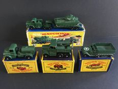 Lesney Matchbox - Misc. scales - Big lot with 10 Military Vehicles: Nos.M3, 12, 49, 55, 62, 64, 71