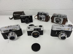 6 miscellaneous cameras 3 Voigtländer, 2 Ilford and Vilia