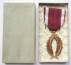 Belgium - Medal of the order of the Crown (in gold) sixth class with case
