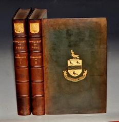 William Prescott - History of the Conquest of Peru - 2 volumes - ca. 1865