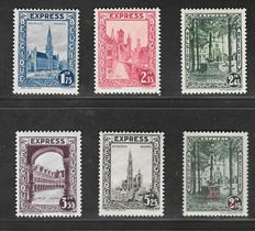 Belgium 1929 – Express stamps – OBP 292C/H