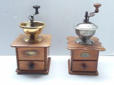 Peugeot and Acier Forge Coffee Grinders, second half 20th century