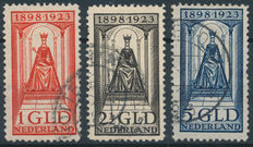 The Netherlands 1923 – Anniversary of the Reign – NVPH 129, 130, 131