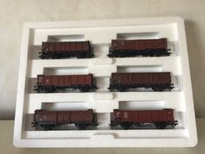 "Märklin H0 - 46021 – Carriage set ""De jonge DB"" 6x open freight carriages"
