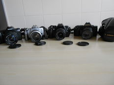Four cameras Canon and Sigma