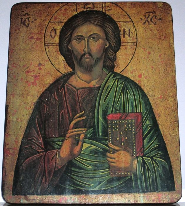 Pantocrator on wood Orthodox Religious icon