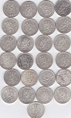 The Netherlands – 1 guilder 1955/1967, Juliana (25 pieces) – silver.