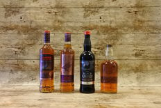 Famous Grouse - 12 YO - 16 YO - Black Alpha Edition - Naked Grouse - 4 Bottles