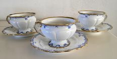 KPM Royal Berlin-three cups and saucers