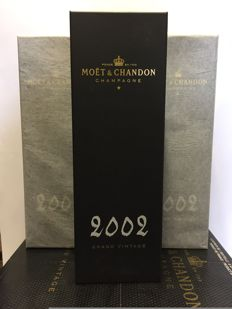 2002 Moët & Chandon Grand Vintage Collection, Champagne - 3 bottles (75cl) in original sealed cases