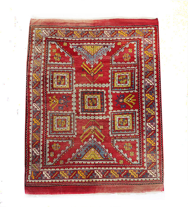 Antique Turkish Canakkale  Rug  275x209 cm or c. 9 by 7 feet