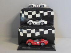 Minichamps - Scale 1/43 - Lot with 3 x Maserati Tipo 61 1960