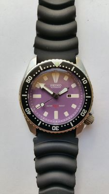 Seiko purple Diver - wristwatch - from 04-1991