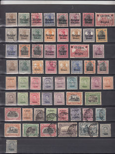 Germany – Reich – Collection of Belgian stamps – New and used – Eupen – Malmedy – With military cancellation