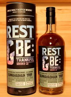 Bunnahabhain 1989/2015, aged 26 years, Rest & Be Thankful Whisky Company (RBTW), 242 bottles, 70cl, 49,4%vol.