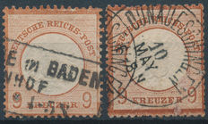 German Empire  1872 -  Michel 27a & 27b