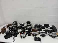 Lot of 23 cameras AGFA, Beirette, Chinon, Empire, Franka, Fujica, Ricoh, Werra and Zenith