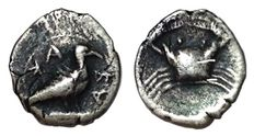 Greek Antiquity - Italy, Sicily, Akragas (472-420 BC) - AR Hemilitron (9mm; 0,28g.) - Eagle / Crab - SNG Cop. -