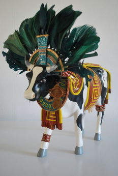 Moisés Cohen for Cow Parade - Aztec - Co - Large & Retired - rare example