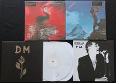 Depeche Mode - Lot of 4LP's, including 2 out of print releases on 180 gram vinyl and 1 rare early demos LP on WHITE MARBLED vinyl!