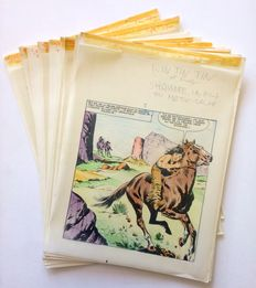 Marcello, Raphael Carlo - 16x original pages + 8x tissue papers with colour indications - Rin Tin Tin e Rusty no. 57 - Shawnee, le fils du matin-calme - (1964)