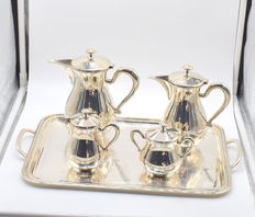 Sterling silver tea set, international hallmarked 900