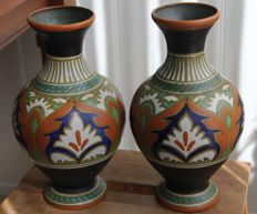 Plateelfabriek Zuid-Holland - set of large 'Ali' vases