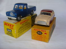 Dinky Toys - Scale 1/43 - Land Rover No.344 and Humber Hawk No.165