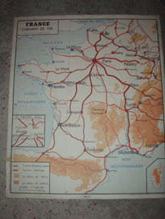3 school maps of French geography