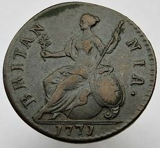 United Kingdom - ½ Penny 1771 George III