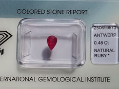 Ruby - 0,48 ct. - No Reserve Price