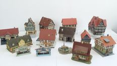 Vollmer/Kibri/Faller - 14 buildings - includes many timber-frame houses