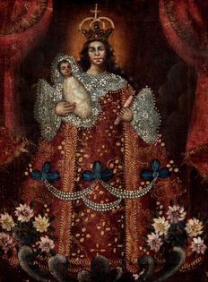 Colonial school - Cuzco (19th c.) - Virgen Coronada