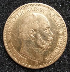 German Empire, Prussia – 5 mark 1878 A – gold
