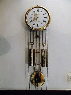 Nice – Comtoise style – Pulley wall clock – France – Second half of the 1900s