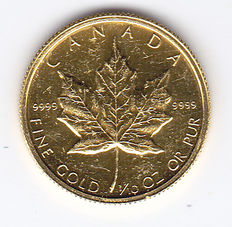 "Canada – 5 Dollars 1982 ""Maple Leaf"" – 1/10 oz of gold"