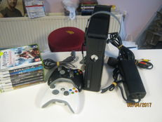 X-box 360(250gb) incl 2 controllers , headset and 8 games.