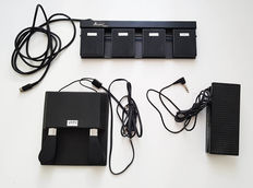 Lot of 3 electronic pedals for digital piano / Keyboard
