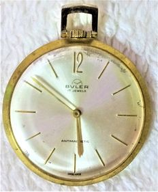 BULER Antimagnetic pocket watch, 17 rubies, circa 1940, Swiss made