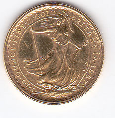 "Great Britain – 10 Pounds 1987 ""Britannia"" – 1/10 ounce of gold"