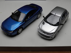 Otto Mobile - Scale 1/18 - Peugeot 206GT - Silver and Peugeot 406 Coupe ph2 - Blue