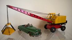 Arnold, US Zone Germany, Joustra, France - L. 25-40 cm - Candidat made of tin and Joustra Crane made of tin/plastic, 1950s/60s