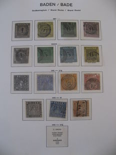 Baden 1851-1862 - Stamp collection