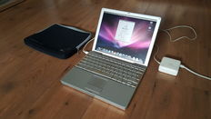Apple Powerbook G4 (A1104) - 12''inch, 1.5Ghz, 1,25GB Ram, 80 GB HD incl. Soft Pouch Cover + Charger