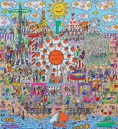 James Rizzi - The Big Apple Is Big On Coney Island, The Big Apple Is Big On The Empire State Building, The Big Apple Is Big On Broadway