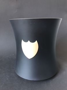Dom Perignon Champagne Wine Pewter Cooler Bucket grey / gold