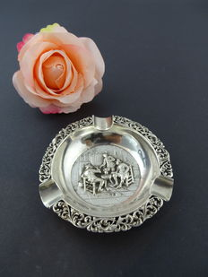 Silver 835 k antique ashtray from 1854, 9,4 cm