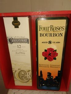 2 bottles - Cragganmore 12 years old & Four Roses 8 years old